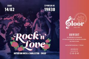 JEUDI 14 FÉVRIER - Rock'n'Love au Floor - Initiation au Rock & Charleston @ Le Floor